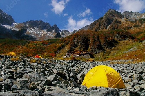 camping in a mountain