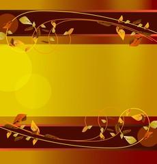 Jesień. Ozdobny banner lub tło do stron interentowych.