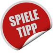 Sticker rot rund curl untern SPIELE TIPP