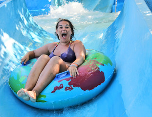 woman in the waterpark