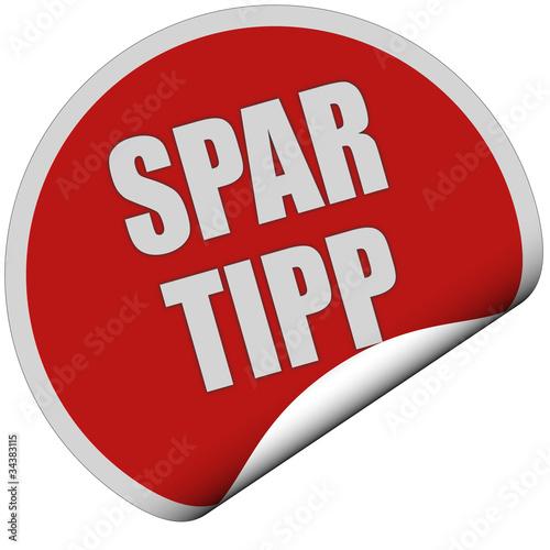 Sticker rot rund curl unten SPAR TIPP