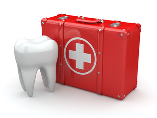 Stomatology. Tooth and Medical Kit.