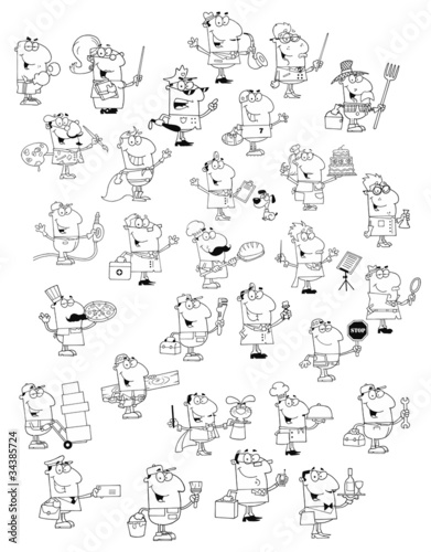 Profession People.Big Vector Collection
