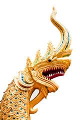 golden naga isolated on white background