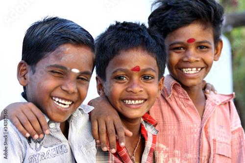 Leinwanddruck Bild Indian Little Friends