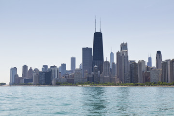 Chicago Summer lakeview Skyline