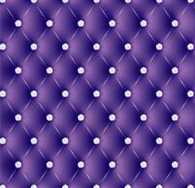 Capitonné violet boutons diams-1
