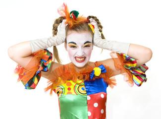 Clown - déguisement - crise de nerfs