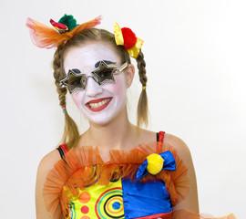 Clown - déguisement - les lunettes étoiles