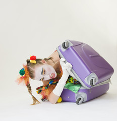 Clown - déguisement - dans la valise
