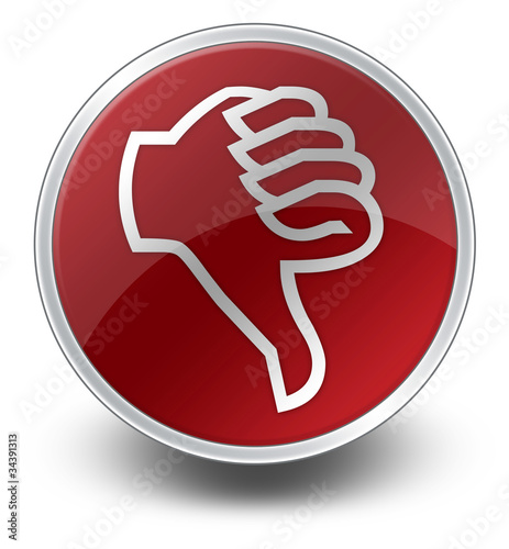 "Red Glossy Icon ""Thumbs Down"""