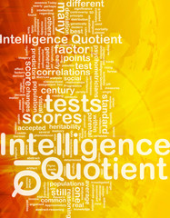 Intelligence quotient background concept