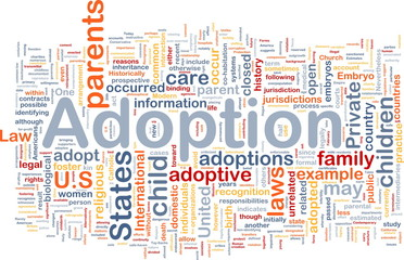 Adoption background concept