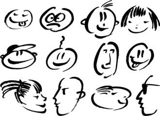 doodles faces
