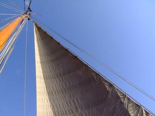 Vorsegel eines Segelschiffs