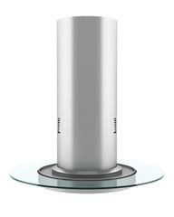 modern metallic cooker hood isolated on white background