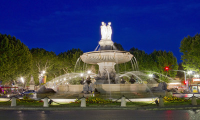 La Rotonde fountain, center of Aix-en-Provence, south of France