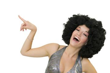 Disco - femme riant aux éclats