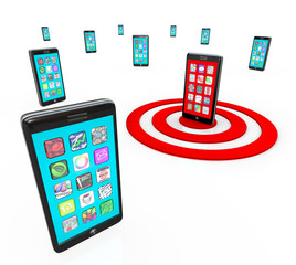 Targeted Smart Phone Application Icons for Apps