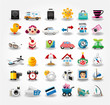Travel icons symbol collection. Vector illustration.