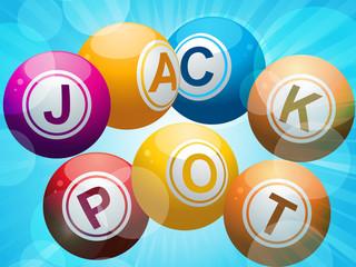 jackpot lottery bingo balls