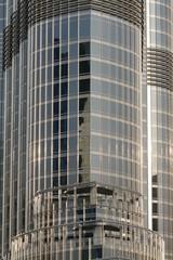 Dubai - Burj Khalifa, detalle de la arquitectura