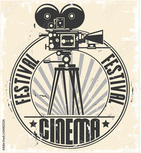 Cinema festival stamp