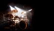 Leinwanddruck Bild - Schlagzeug und Trommel beim Konzert