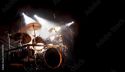 Leinwanddruck Bild Schlagzeug und Trommel beim Konzert