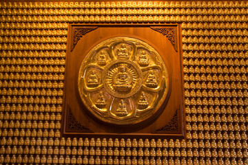 Golden Buddha Image on wall