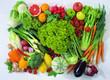 Постер, плакат: Зелень овощи и фрукты