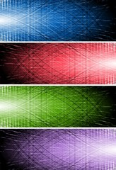 Bright vector banners