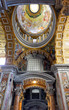 St. Peter's Basilica, . Indoor interior. Vatican
