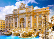 Leinwandbild Motiv Fountain di Trevi ,Rome. Italy.