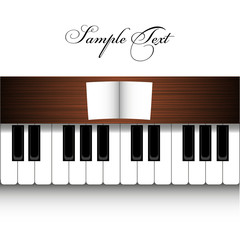 vector piano design on wite