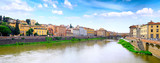 Arno river in Florence,Tuscany, Italy. Panorama poster