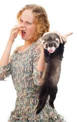 girl with the ferret