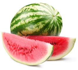 Watermelon with slices