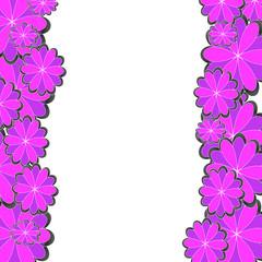 和の花柄のバックグラウンド