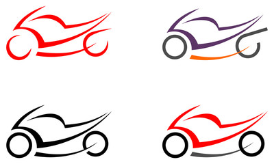 Motorbike, motorcycle - vector image, tattoo