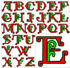 ABC Alphabet background kings embroidery design