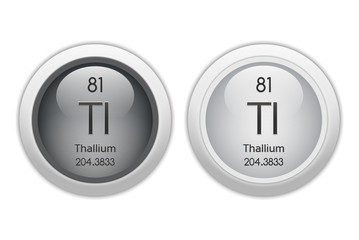 Thallium - two glossy web buttons