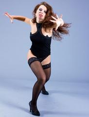 Dancing Performer Posing