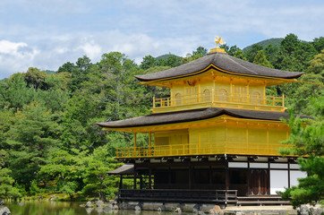 Golden Pavilion (Kinkaku-ji) in Kyoto, Japan