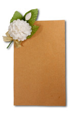 Jasmine and brown paper
