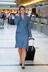 Business woman at airport