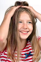 Mädchen Haare Hände