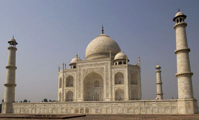 White marble Taj Mahal in India, Agra