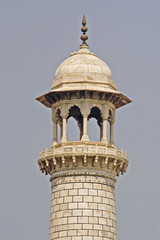 Minaret of Taj Mahal in Agra, India