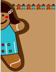 gingerbread blue doll